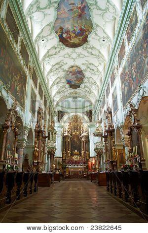 St. Peter Abbey Church inside. Salzburg, Austria