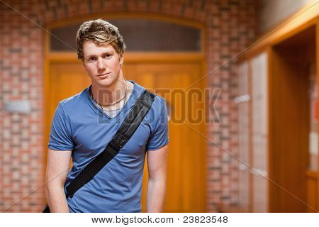 Handsome Student Standing Up