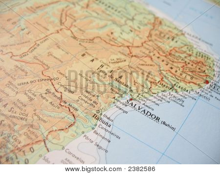 Map Of Bahia, Brazil - 1