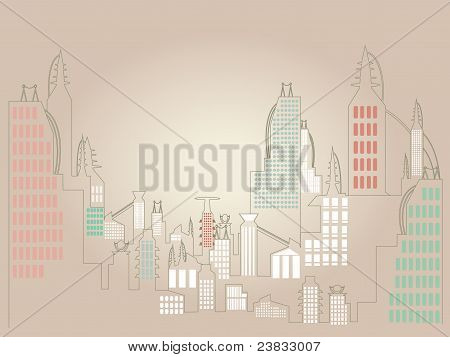 Minimalist Cityscape Illustration