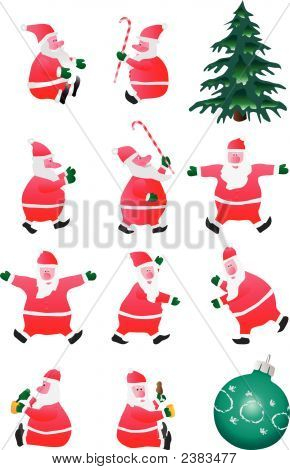 Set Of Santa