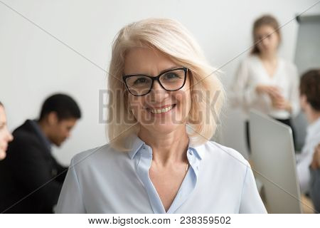 Portrait Of Smiling Senior Businesswoman