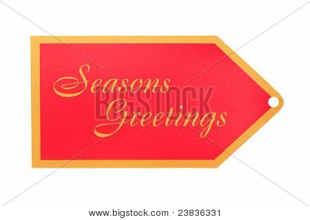 Seasons Greeting Gift Tag