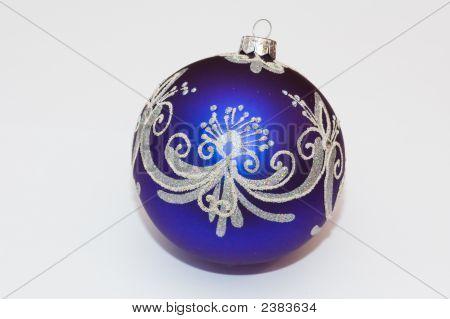 Big Blue Christmas Tree Ball