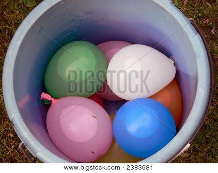 Ballons In Bucket