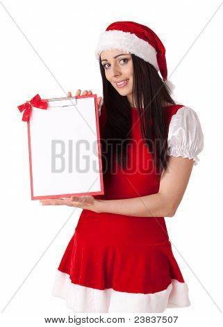 Christmas Girl With Clipboard.