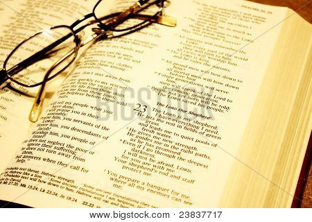 Bible With Reading Glasses