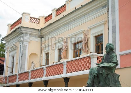 House - Museum And Statue Of Great Russian Painter Aivazovsky In Feodosiya, Crimea, Ukraine