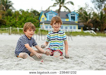 Two Little Kids Boys Having
