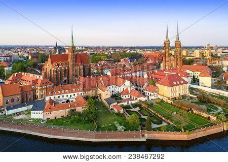 Poland Wroclaw Ostrow Tumski District
