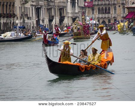 Historical Regatta Of Venice