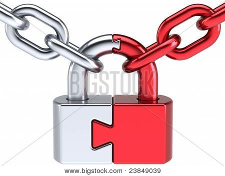 Security puzzle lock padlock concept