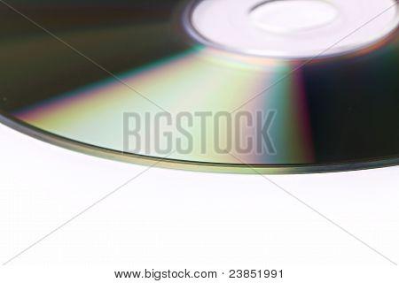 closeup cd on white background