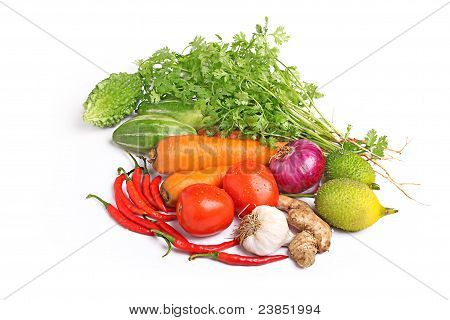 colorful fresh group of vegetables
