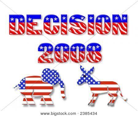 3D Decision 2008 Election Graphic