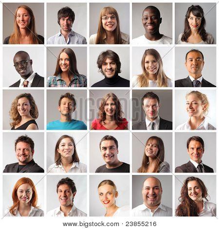 Composición de sonreír a la gente