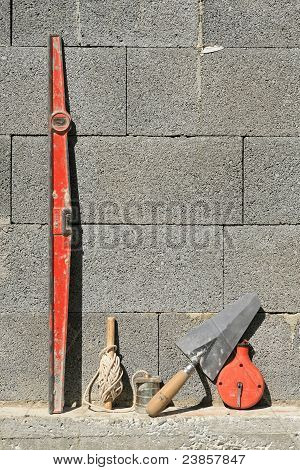 Tools of bricklayer