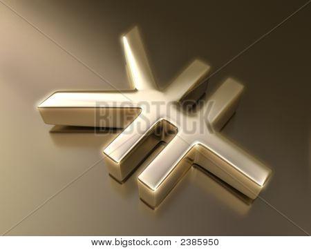 Golden Zeichen yen