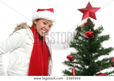 Woman At Christmas