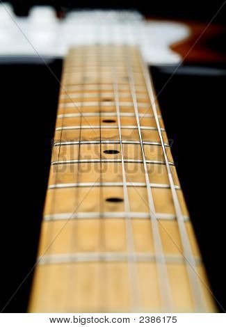 Close Up Of Electric Guitar Neck