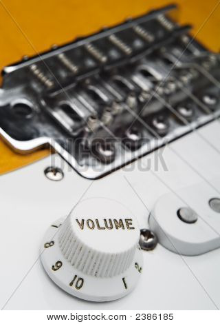 Coseup Of Electric Guitar Volume