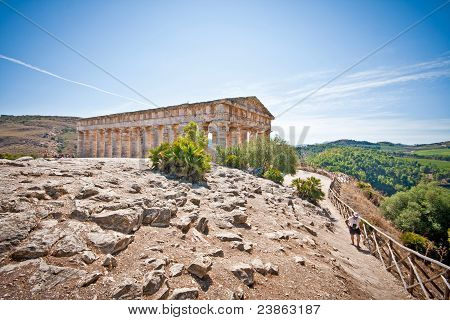 Landscape With Temple In Segesta