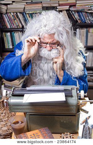 Author working