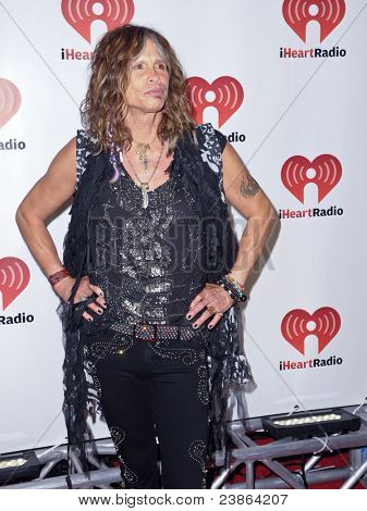 LAS VEGAS - SEPTEMBER 24: Steven Tyler appears on the red carpet at the 2011 iHeartRadio Music Festival on September 24, 2011 at the MGM Grand Garden Arena in Las Vegas, Nevada.