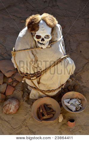 Mummy At Chauchilla Cemetery - Nazca Peru