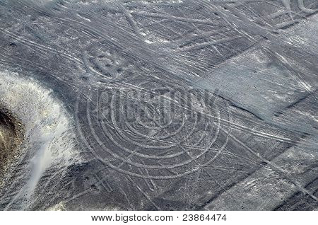 Nazca Lines - Spiral - Aerial View