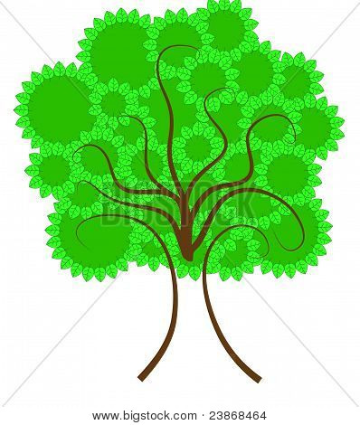 Tree with leaf circles