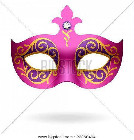 Máscara de carnaval. Vector.