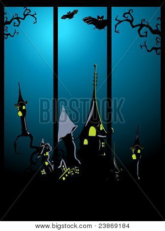 Set of three Halloween banners, vector