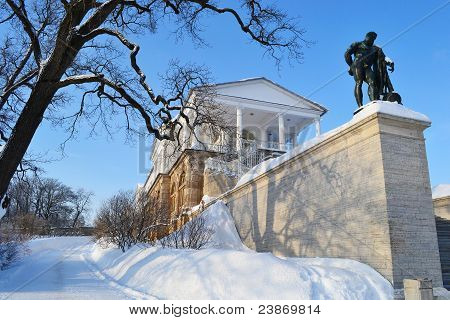Palace in Tsarskoe Selo, winter.