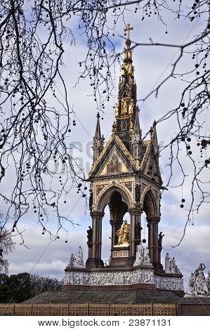 The Prince Albert memorial in Hyde park