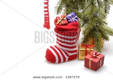 Meia de Natal e presentes