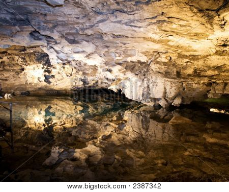 Reflection In Underground Lake