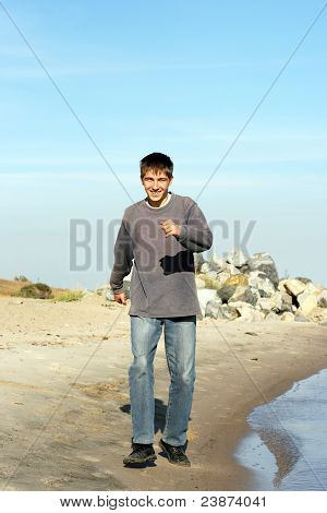 Teenager On Beach