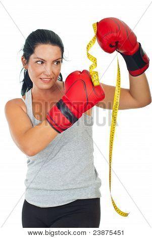 Woman Kicking Centimeter