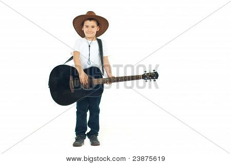 Little Cowboy Playing Guitar