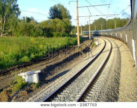 Transsiberian Express Train Across Russia