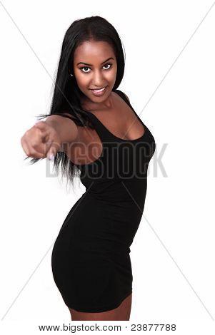 Lovely female pointing