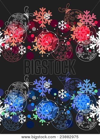 Hermosos patrones de Navidad sin fisuras. Dos variantes de color.