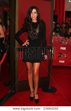 LOS ANGELES, CA - SEPTEMBER 14: Terri Seymour at the premiere of Fox's 'The X Factor' held at ArcLight Cinemas Cinerama Dome on September 14, 2011 in Los Angeles, California