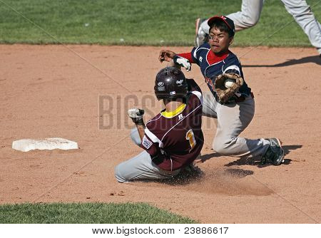 Senior League Baseball World Series Close Play