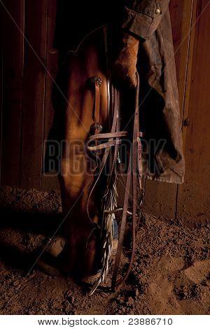 Cowboy Holding Bridle Close