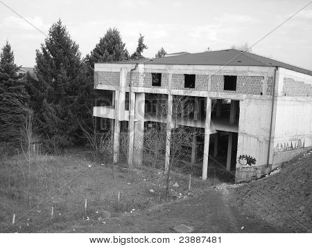 Old concrete house construction