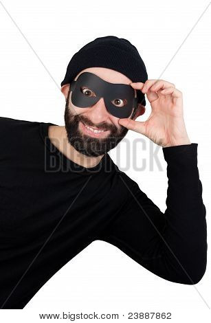 Thief Popping Out From One Side