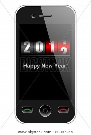 mobile phone with new year counter