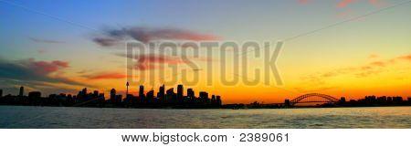 Sydney Skyline At Night..